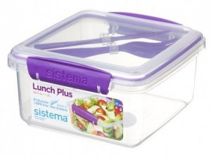 lunchbox Sistema Lunch Plus Filoetowy