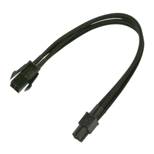 kabel Nanoxia 4-Pin p4 Extension, Single Sleeve 30cm