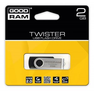 pendrive Goodram Twister 2GB USB 2.0 Black