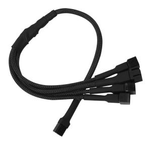 kabel Nanoxia 3-Pin Molex to 4 x 3-Pin Adaptor 30cm