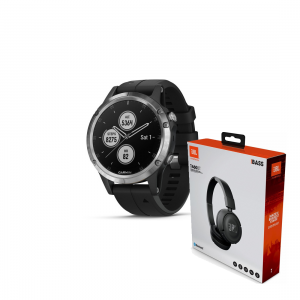 smartwatch Garmin Fenix 5 Plus Black/Silver 010-01988-11 + JBL T460BT